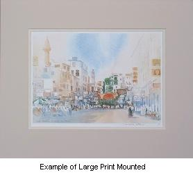 Spencer W Tart Middle East Watercolour Artist Large Mounted print