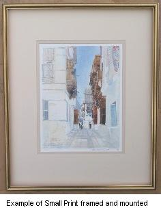 Spencer W Tart Middle East Watercolour Artist Small Framed print