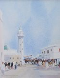 Spencer Tart watercolour artist original SUK MUTRAH