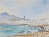 Spencer Tart watercolour artist original MUTTRAH WATERFRONT