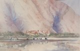 Spencer Tart watercolour artist original NAKHL FORT