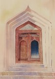 Spencer Tart watercolour artist original OLD DOORWAY OMAN