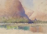 Spencer Tart watercolour artist original WADI ASH SHAB