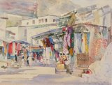 Spencer Tart watercolour artist original MUTRAH SUK