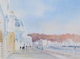 Spencer Tart watercolour artist original CORNICHE MUTRAH