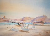 Spencer Tart watercolour artist original SUR, OMAN