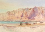 Spencer Tart watercolour artist original BUKHA MUSANDAM