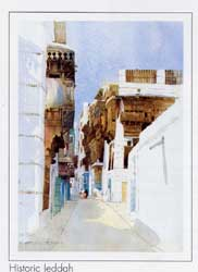 Spencer W Tart watercolour painting jeddah