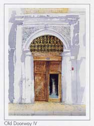 Spencer W Tart watercolour painting doorway